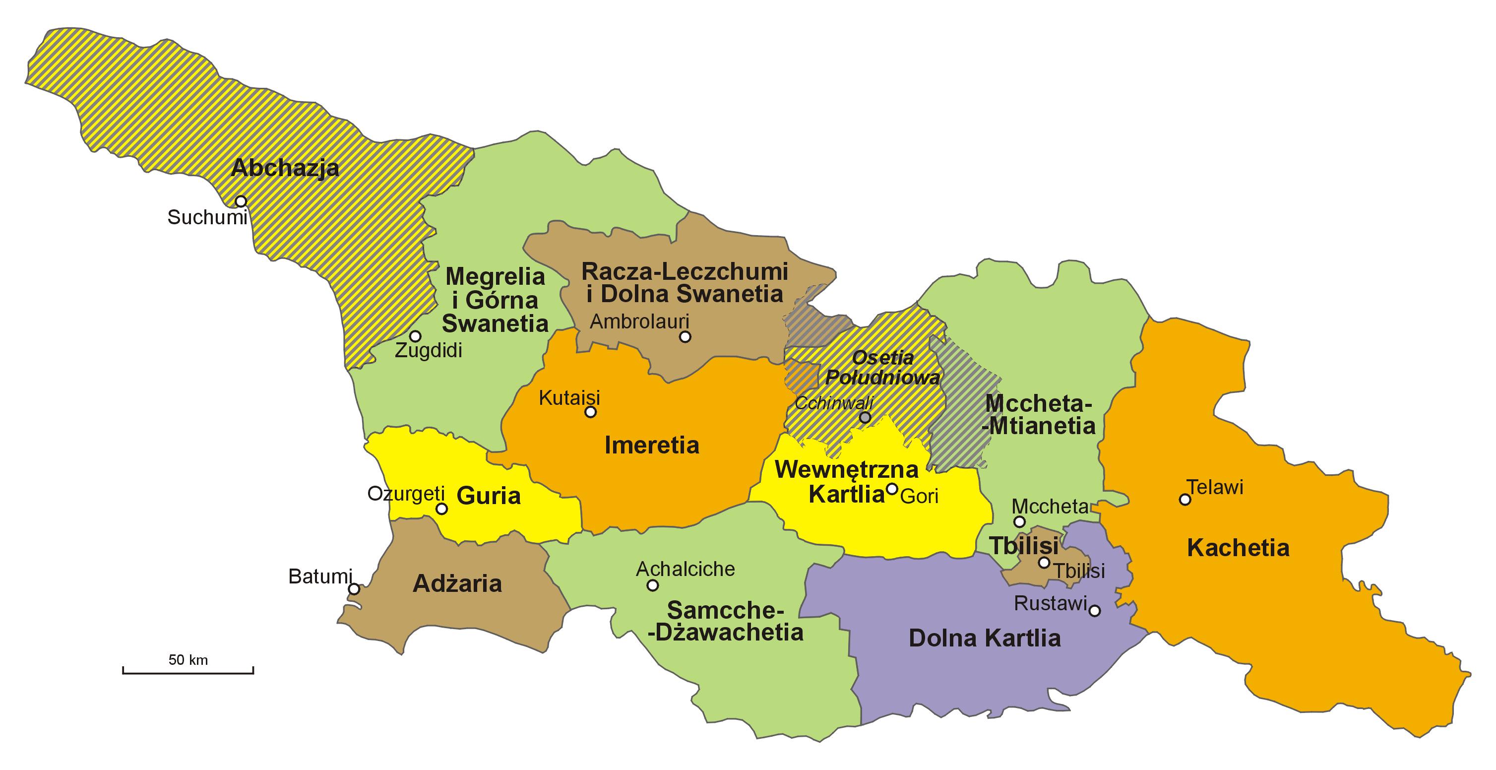 Gruzja-podział_administracyjny